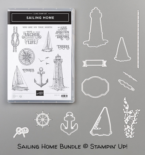 Sailing Home Bundle (Sailing Home stamp set and Smooth Sailing Dies) © Stampin' Up!