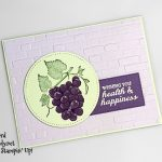 Slice of Happiness stamp set, Stitched Shapes Dies Stitched Rectangles Dies, Brick & Mortar 3D embossing folder from Stampin Up! Card made by Candy Ford #stampcandy