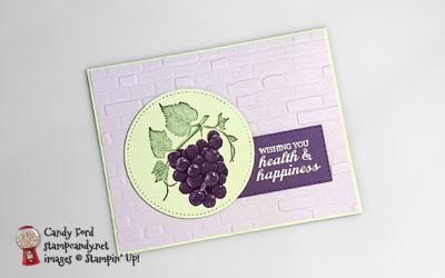 Slice of Happiness Grapes Card