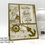 Sailing Home stamp set, Smooth Sailing Dies, and Come Sail Away Designer Series Paper by Stampin