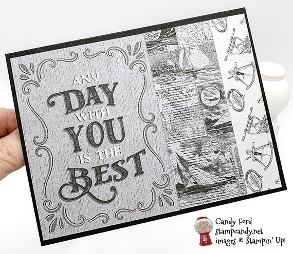 card made by Candy Ford using the Come Sail Away Memories & More Card Pack and Come Sail Away Designer Series Paper by Stampin' Up! #stampcandy