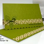 Scalloped Note Cards & Envelopes, Flourish Dies from Stampin