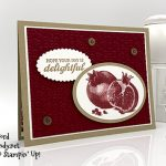 Slice of Happiness stamp set, Eyelet Lace embossing folder, fron Stampin