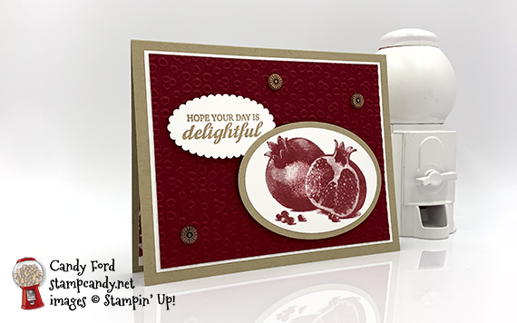 Slice of Happiness Pomegranate Card
