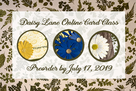 Daisy Lane Online Card Class by #stampcandy Preorder by July 17, 2019.