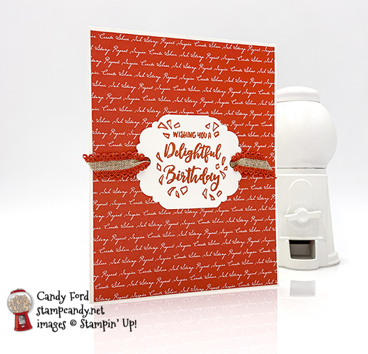 Stampin' Up! Delightful Day bundle Delightful Tag Punch handmade card by Candy Ford of Stamp Candy