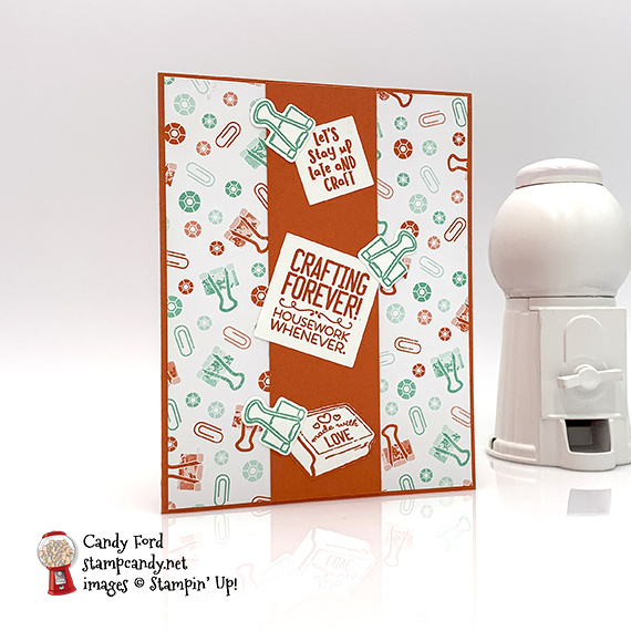 Stampin' Up! Follow Your Art handmade card by Candy Ford of Stamp Candy