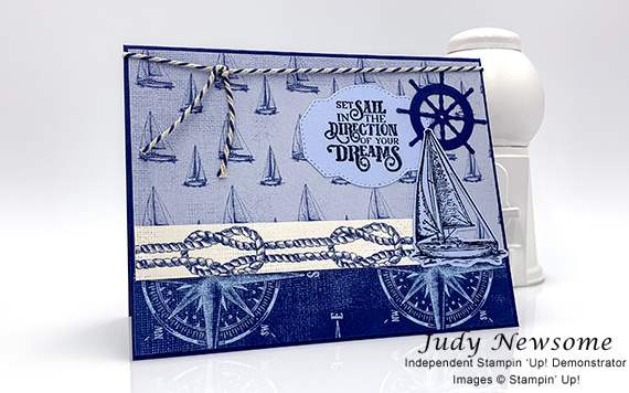 Smooth Sailing Swap Card by Judy Newsome