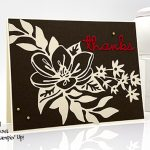 thank you card made with the Well Written Dies and Shimmer Detailed Laser-Cut Specialty Paper from Stampin