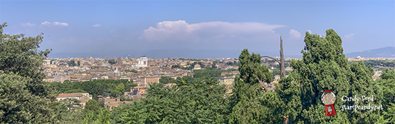 vista of Rome, Italy #stampcandy