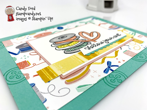 Stampin' Up! Follow Your Art Stamp Set and Arts and Crafts dies handmade card by Candy Ford of Stamp Candy