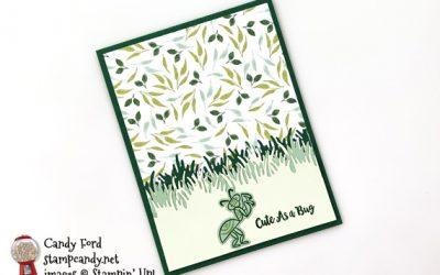 Cute As A Bug Wiggle Worm Card
