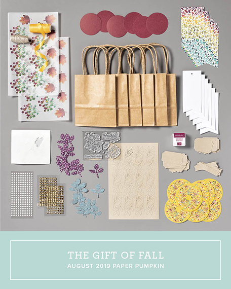Stampin' Up! Paper Pumpkin kit for August 2019, Gift of Fall