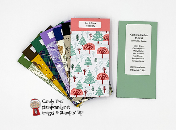 2019 Stampin' Up! Holiday Catalog DSP Swatch Books by Candy Ford #stampcandy