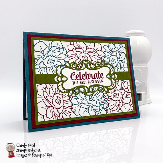 Band Together Bundle card and pizza box for ICS blog hop August 2019, Candy Ford #stampcandy