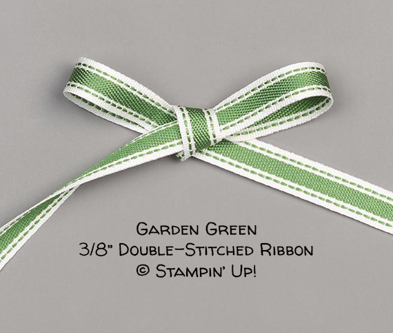 "Garden Green 3/8"" Double-Stitched Ribbon © Stampin' Up!"