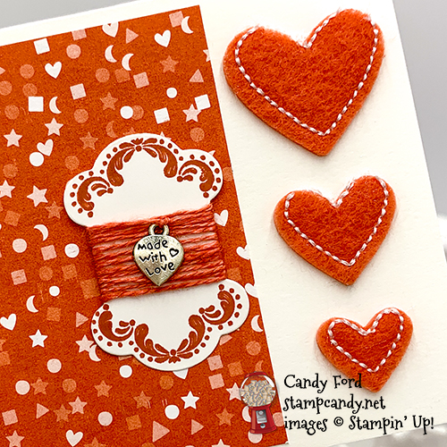 Stampin' Up! It Starts With Art bundle and Follow Your Art Embellishments card by Candy Ford of Stamp Candy