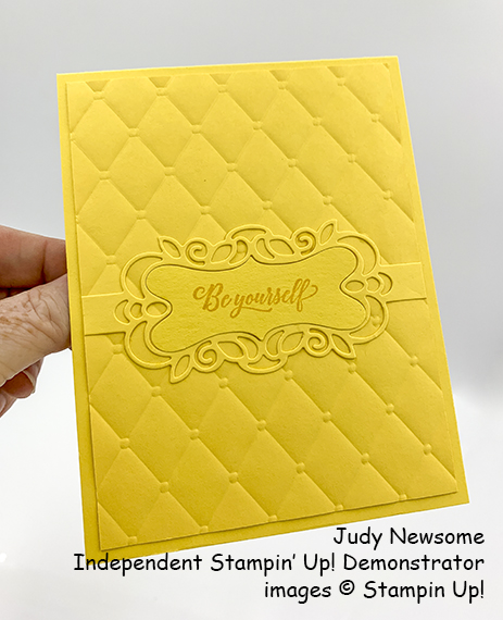 Stampin' Up! Born to Shine and Detailed Bands Dies with Tufted Embossing Folder card by Judy Newsome for Stamp Candy