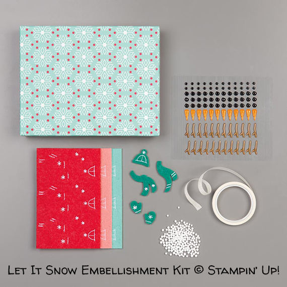 Let It Snow Embellishment Kit © Stampin' Up!