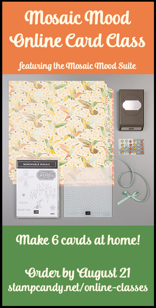 Mosaic Mood online class by #stampcandy