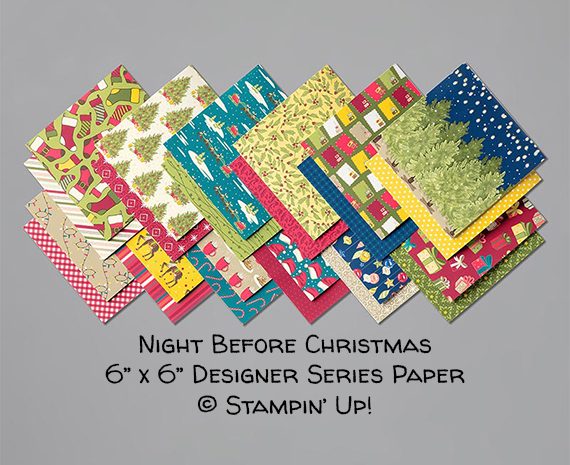 Night Before Christmas 6x6 Designer Series Paper © Stampin' Up!