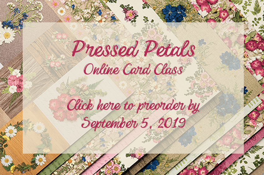 Pressed Petals suite by Stampin' Up! Online Card Class by Candy Ford #stampcandy