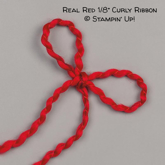 "Real Red 1/8"" Curly Ribbon © Stampin' Up!"