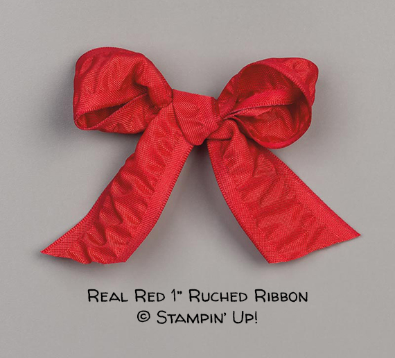 "Real Red 1"" Ruched Ribbon © Stampin' Up!"