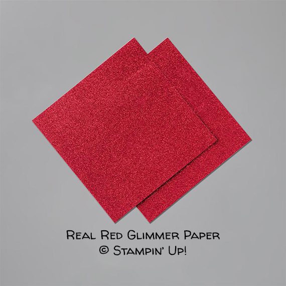 Real Red Glimmer Paper © Stampin' Up!