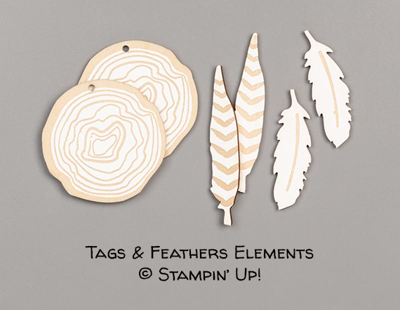 Tags & Feathers Elements © Stampin' Up!