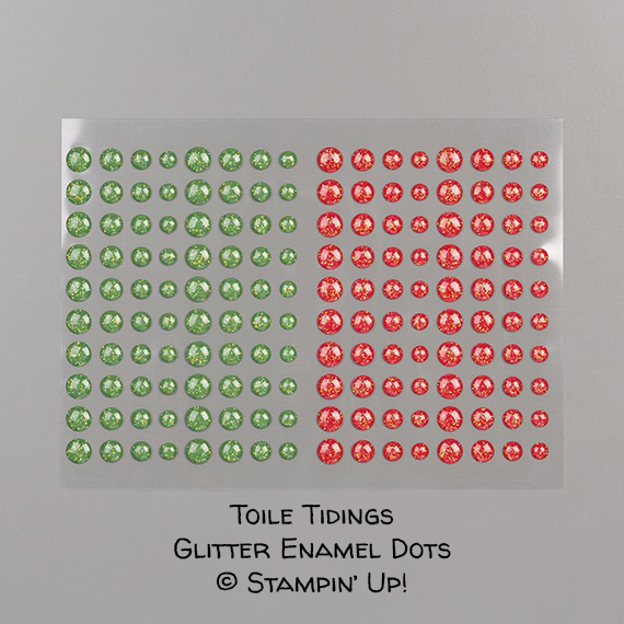 Toile Tidings Glitter Enamel Dots © Stampin' Up!