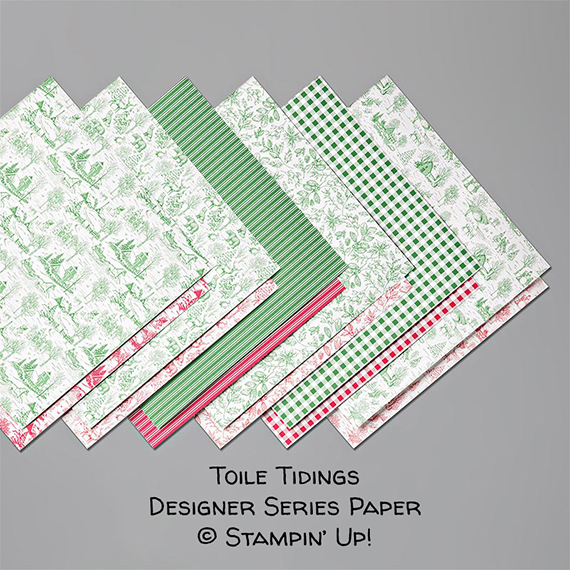 Toile Tidings Designer Series Paper © Stampin' Up!