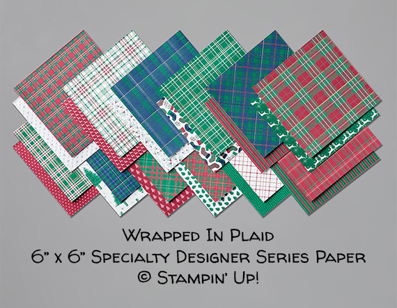 Wrapped In Plaid Specialty 6x6 Designer Series Paper © Stampin' Up!