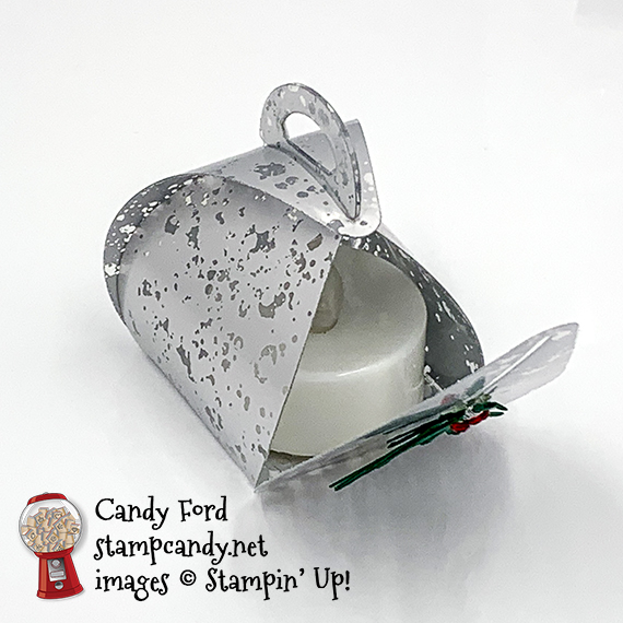 Stampin' Up! mercury glass mini curvy keepsake box by Candy Ford of Stamp Candy.