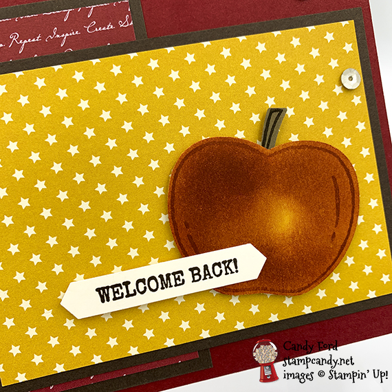 ICSBH 09-2019 Fabulous Fall back to school card made with Stampin' Up! Harvest Hellos stamp set and Apple Builder Punch, made by Candy Ford #stampcandy #icsbloghop
