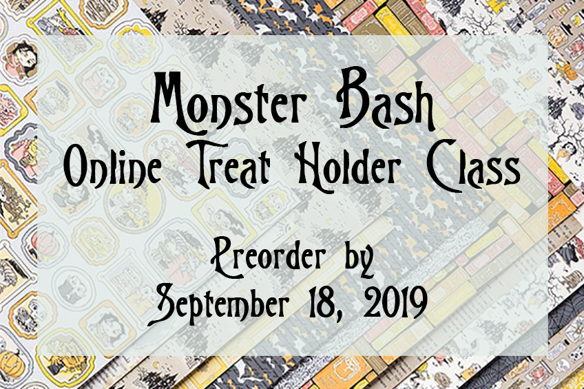 Monster Bash Treat Holder Online Class by Candy Ford #stampcandy Stampin' Up!
