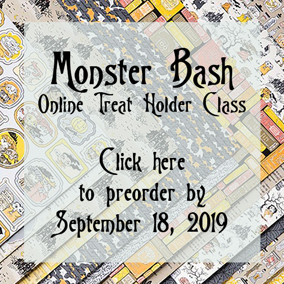 Stampin' Up! Monster Bash Treat Holder Online Class by Candy Ford #stampcandy