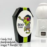 Boo to You and Everything Festive stamp sets, Coffin Boxes, Layering Ovals Dies, Granny Apple Green Ribbon, Googly Eyes, all from Stampin