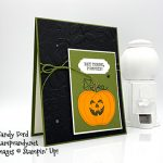 Harvest Hellos bundle, Ornate Frames, Layered Leaves 3D embossing folder, Monster Bash Enamel Shapes, Magnolia Lane Ribbon Combo Pack from Stampin
