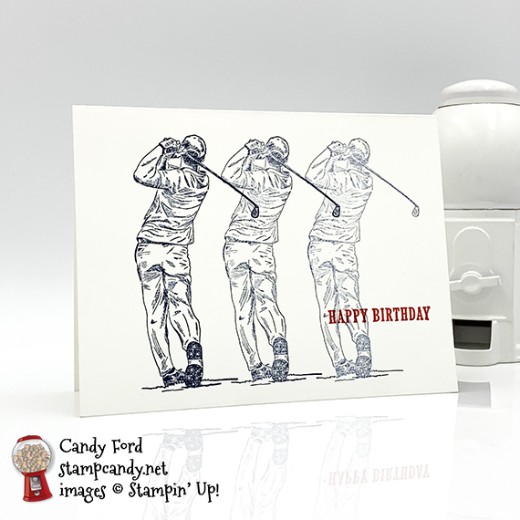 Stampin' Up! Country Club Suite Golfer Card by Candy Ford of Stamp Candy