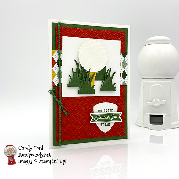 Stampin' Up! Country Club Suite avid card by Candy Ford of Stamp Candy