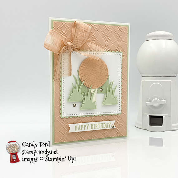 Stampin' Up! Country Club Suite Petal Pink card by Candy Ford of Stamp Candy