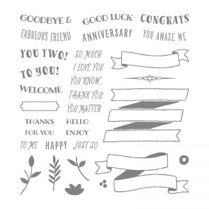 Banners For You stamp set by Stampin' Up! #stampcandy