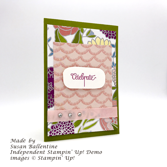 Stampin' Up! Cake Soiree handmade celebrate handmade card by Susan Ballentine for Stamp Candy