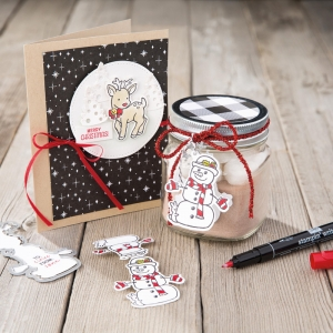 Seasonal Chums stamp set, bundle with Seasonal Tags Framelits Dies, by Stampin' Up! #stampcandy