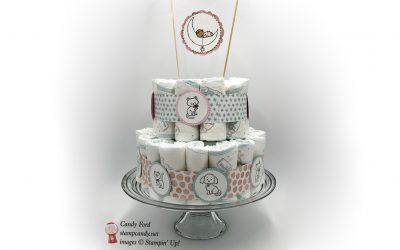Stampin' Up! Diaper Cake