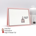 Sweet and Simple wedding card made using the chapel from the Stampin