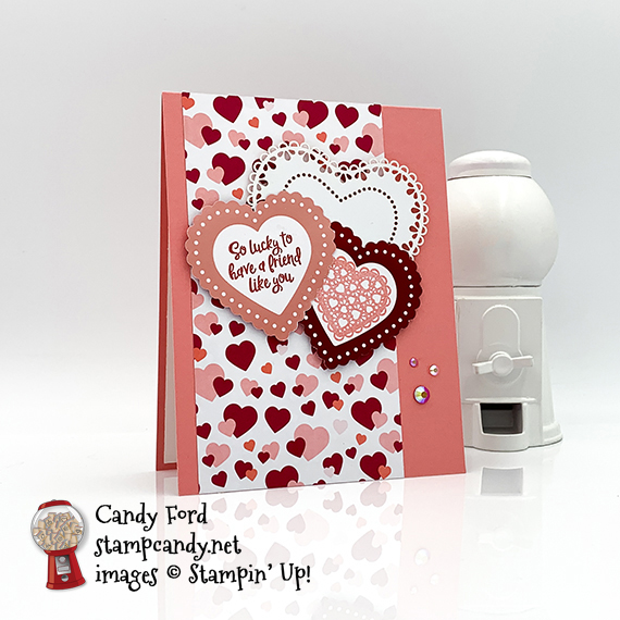 Heartfelt Bundle from Stampin' Up! Card made by Candy Ford of #stampcandy