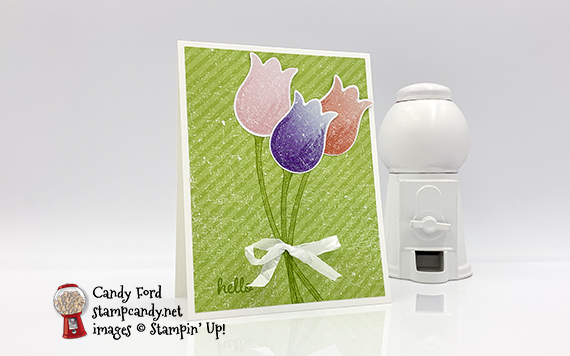 Timeless Tulips Pleased As Punch Hello Card