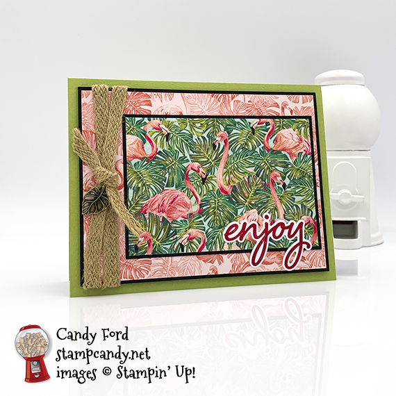 Tropical Oasis birthday card by Candy Ford for the InKing Royalty Blog Hop #stampcandy #stampinup #irbh